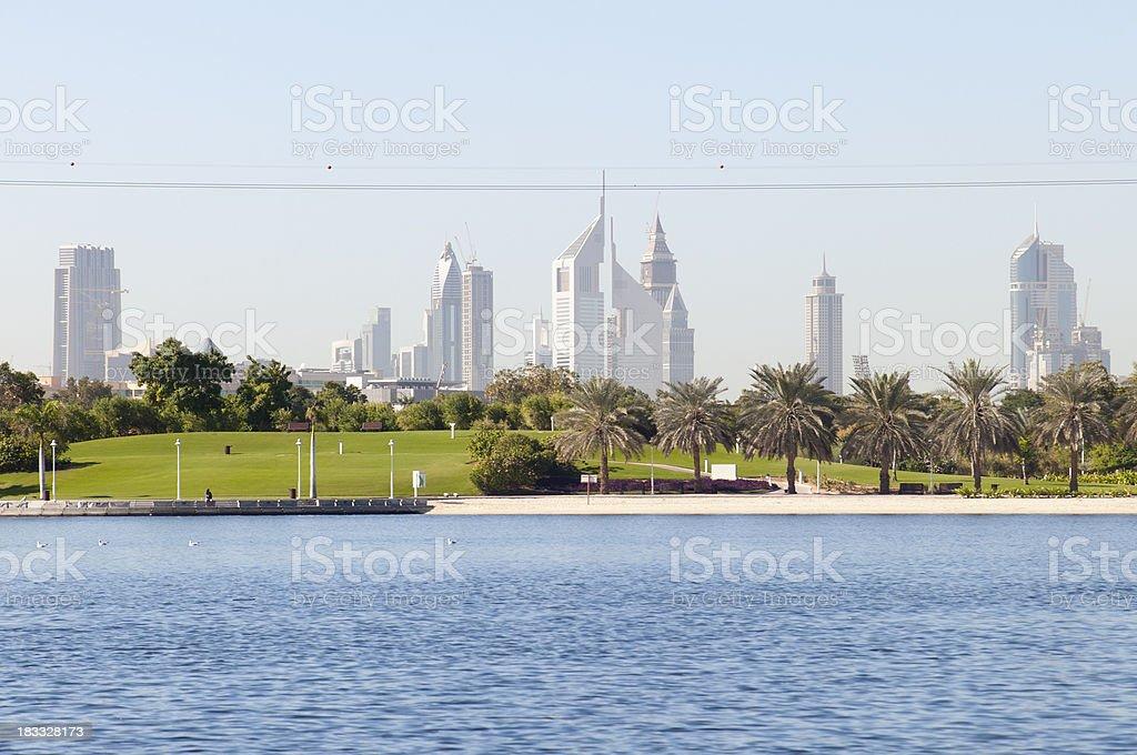 Dubai Creek park stock photo