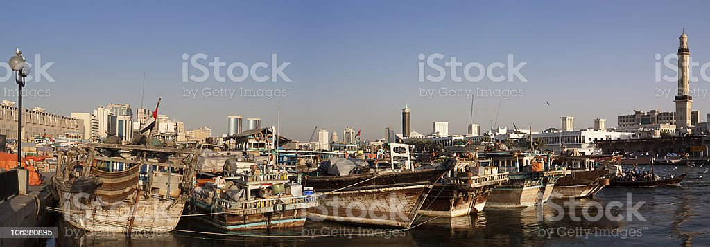 Dubai creek foto de stock royalty-free