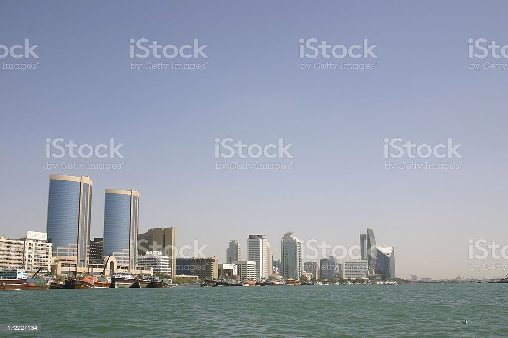 Dubai Creek Skyline royalty-free stock photo