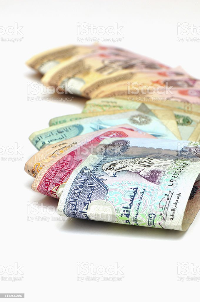 dubai dirham royalty-free stock photo