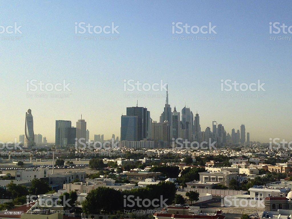 Dubai Downtown District, UAE royalty-free stock photo