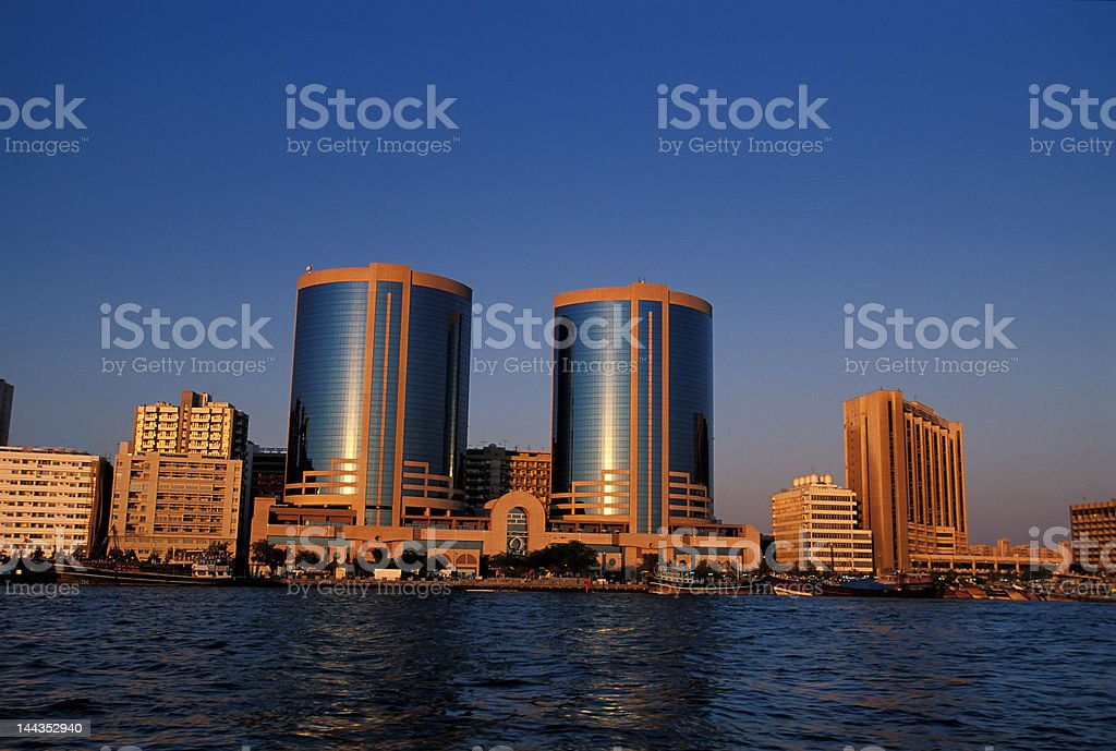 Dubai downtown royalty-free stock photo