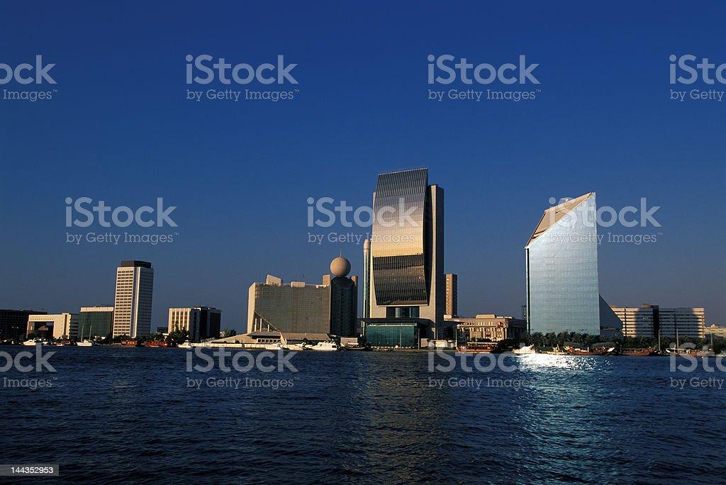 Dubai downtown royalty-free stock photo
