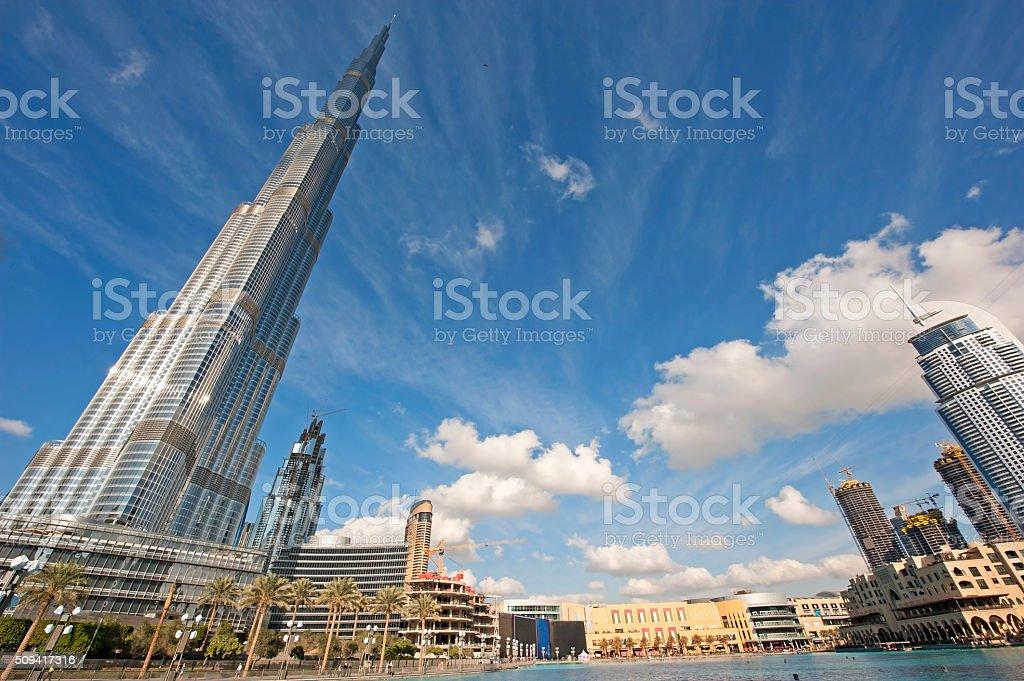 Dubai Downtown skyline stock photo