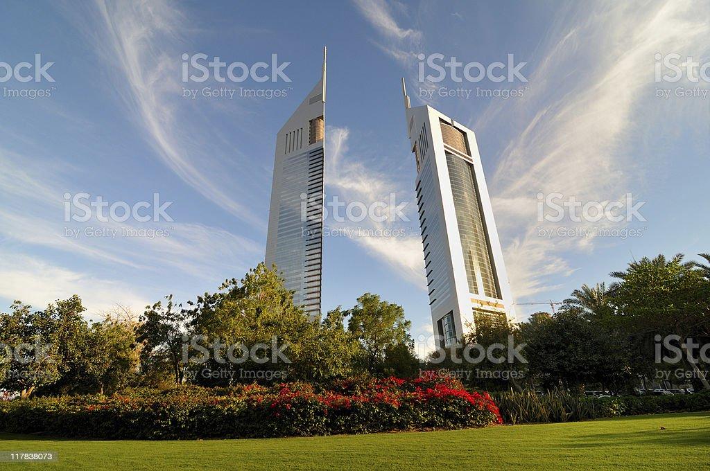 dubai emirates tower royalty-free stock photo