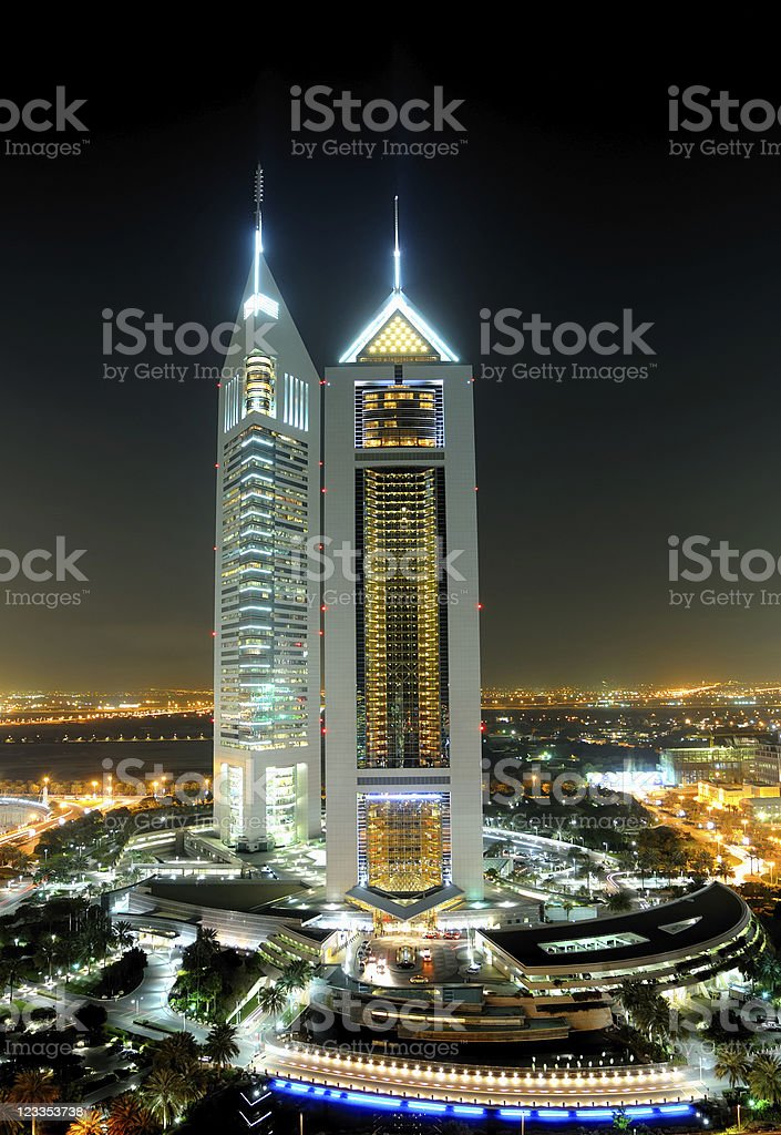 dubai emirates tower stock photo
