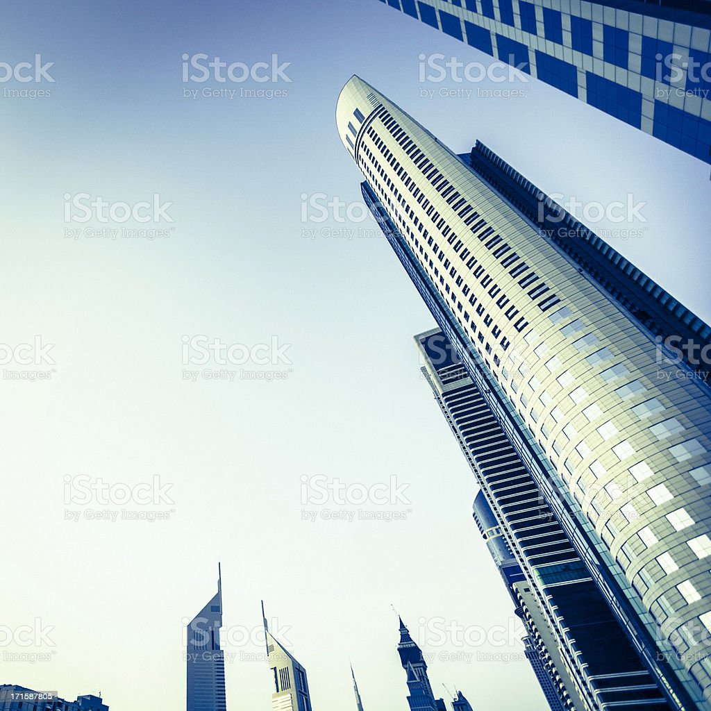Dubai Financial Buildings Skyscraper Downtown royalty-free stock photo