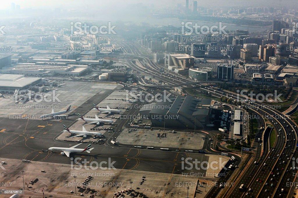Dubai International Airport stock photo