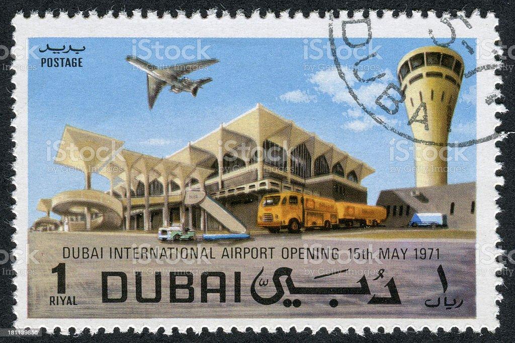 Dubai International Airport Stamp royalty-free stock photo