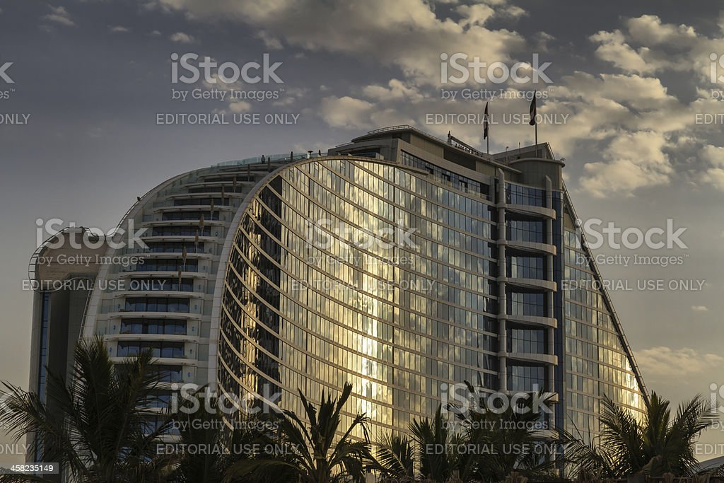 Dubai - Jumeirah Hotel in cloud day royalty-free stock photo