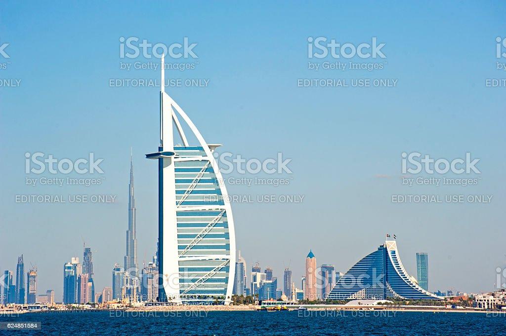 Dubai landmarks stock photo