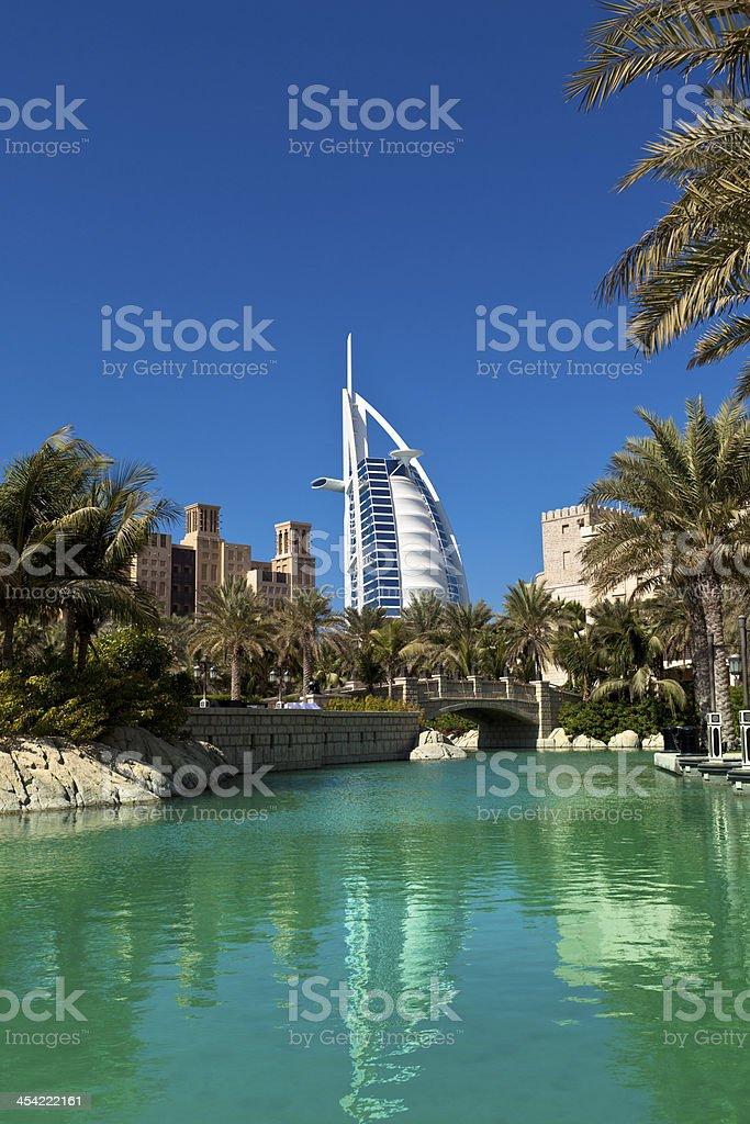 dubai madinat jumeirah stock photo