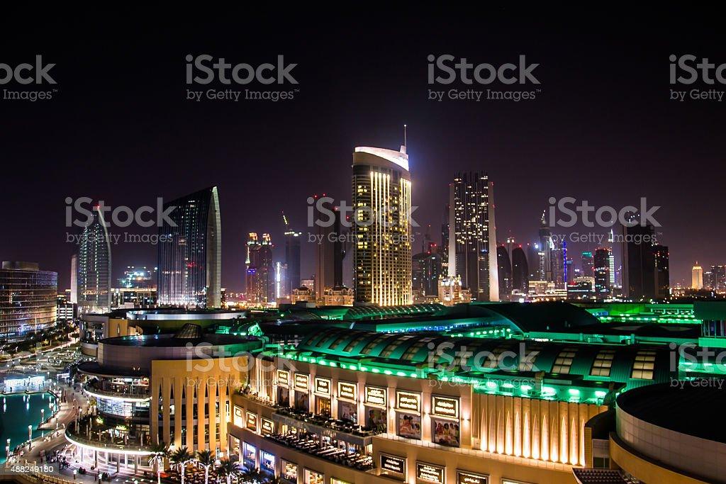 Dubai Mall at night stock photo