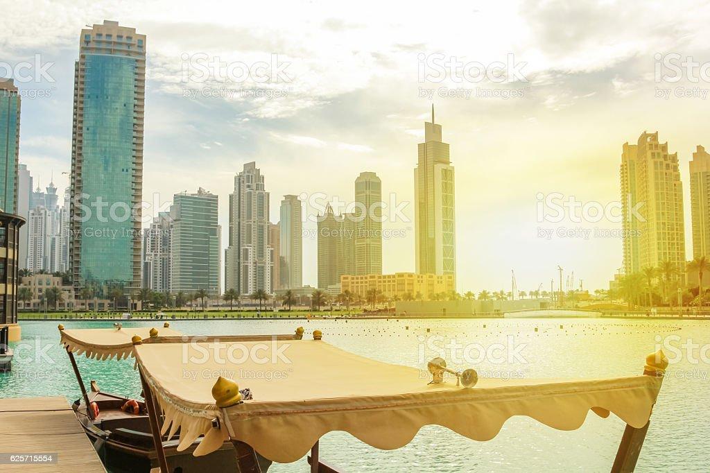 Dubai Mall Lake stock photo