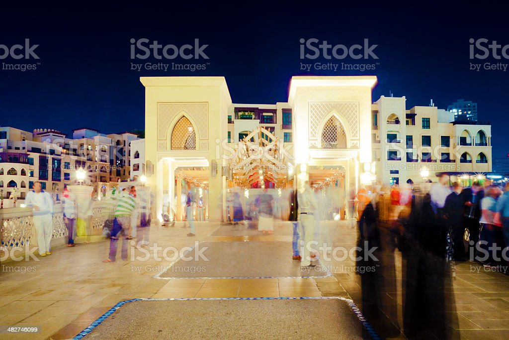Dubai Mall, Souk Al Bahar stock photo