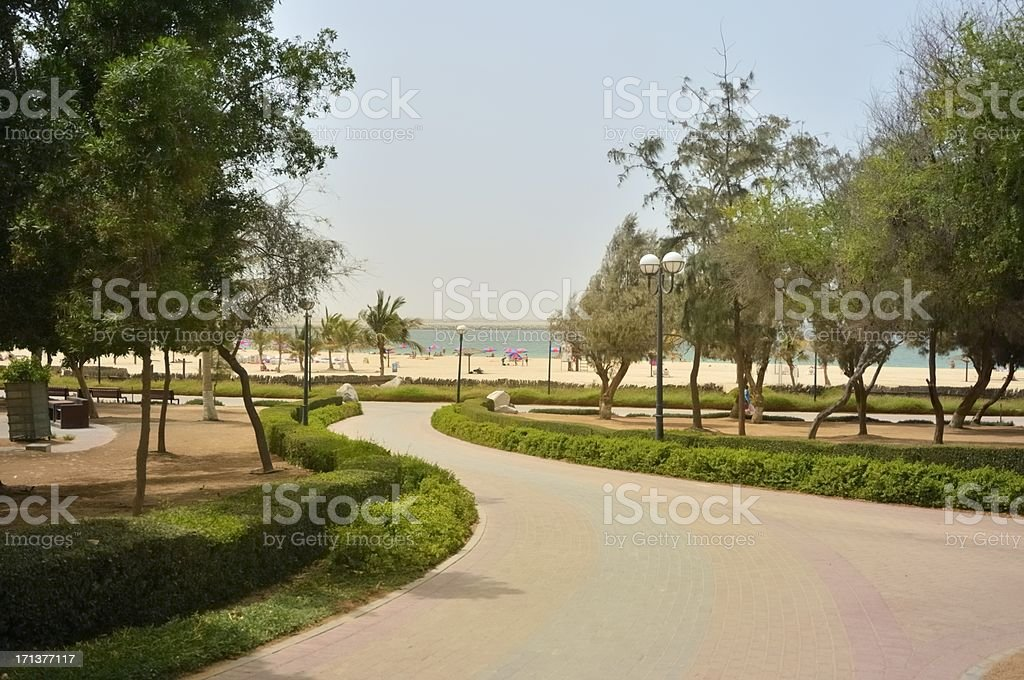 Dubai Mamzar Park Beach One stock photo