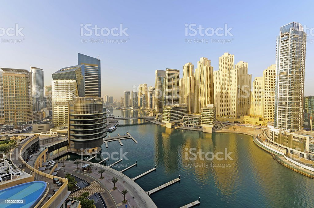 Dubai Marina District, UAE stock photo