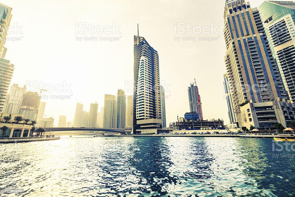 Dubai Marina downtown royalty-free stock photo