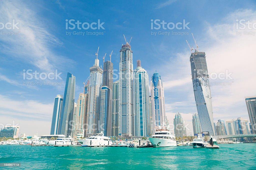 Dubai Marina From the sea royalty-free stock photo