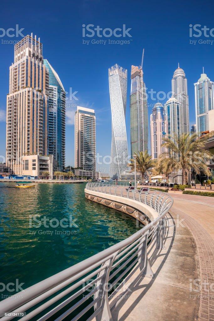Dubai Marina in Dubai, United Arab Emirates stock photo