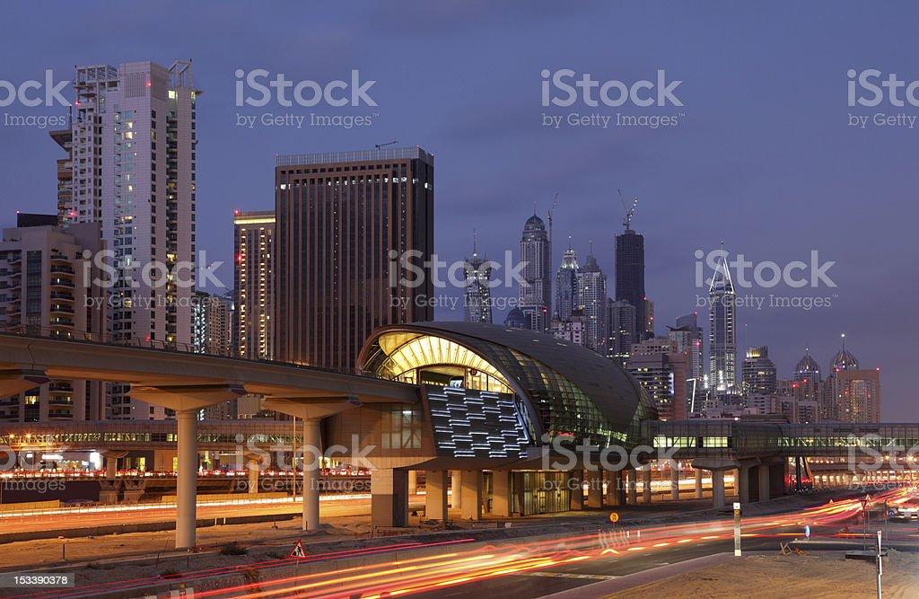 Dubai Marina Metro Station royalty-free stock photo
