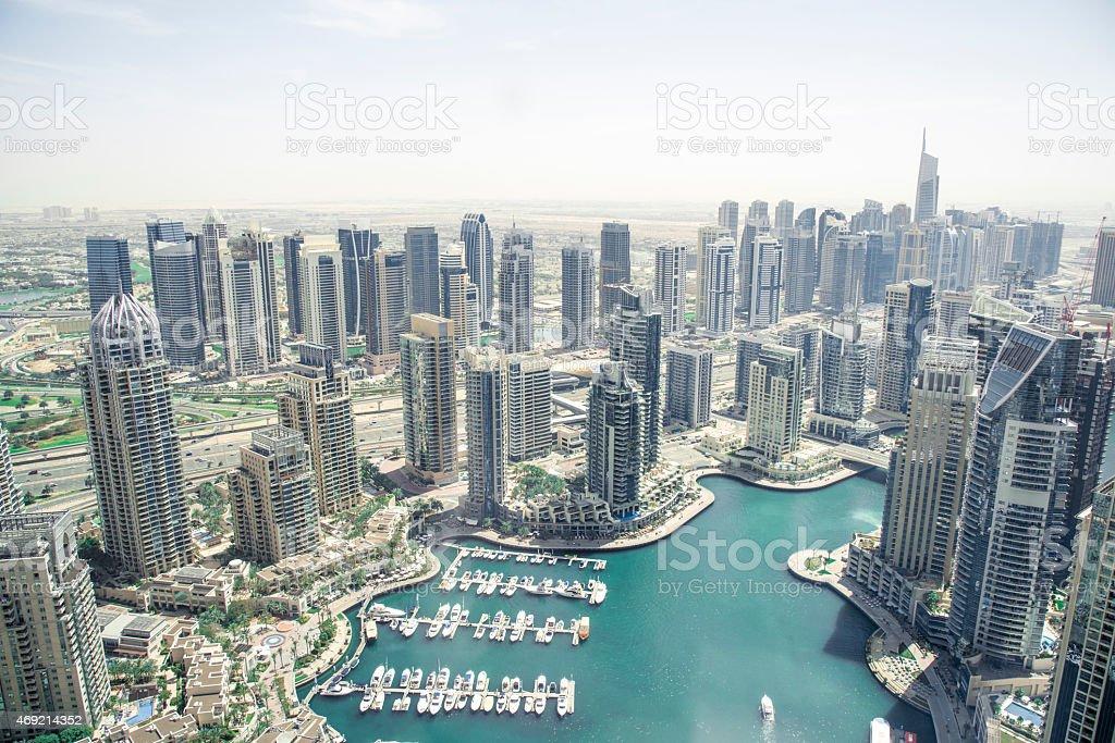 Dubai Marina on a Sunny Day stock photo