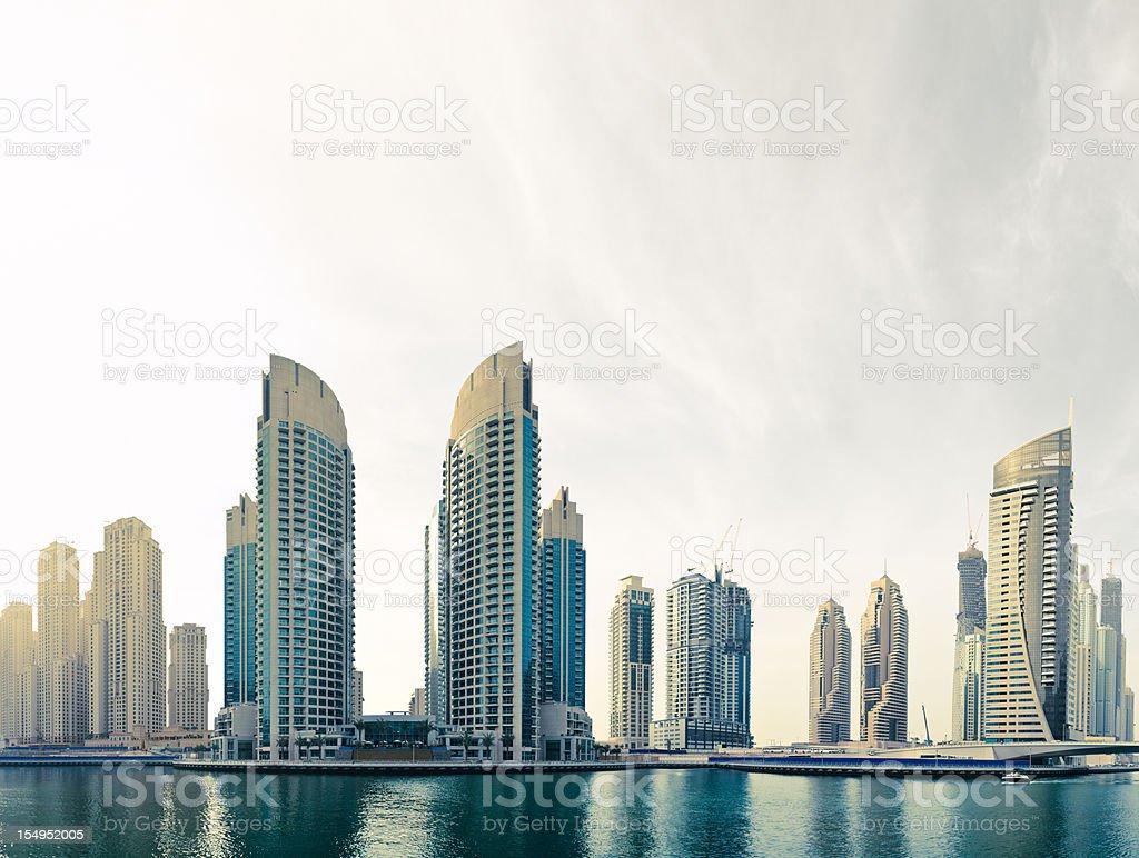 Dubai Marina Panorama royalty-free stock photo