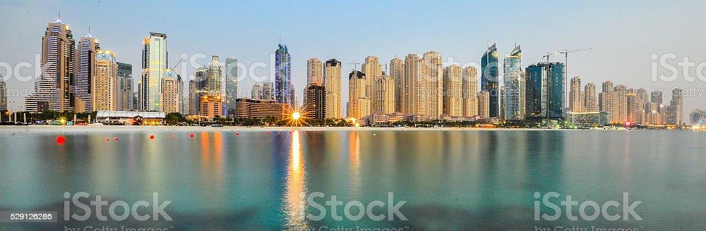 Dubai Marina Panorama stock photo