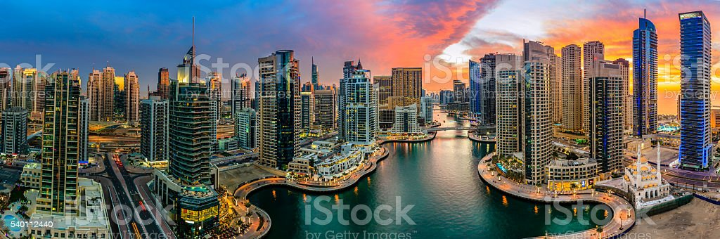 Dubai Marina stock photo