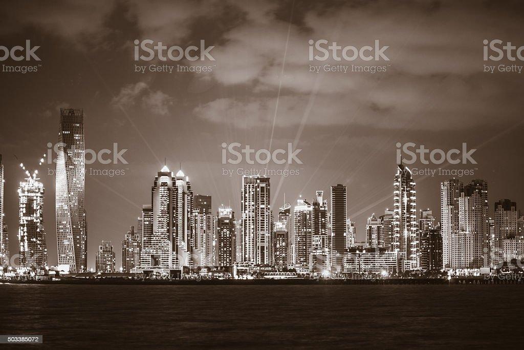 Dubai Marina Skyline - Modern Skyscrapers stock photo
