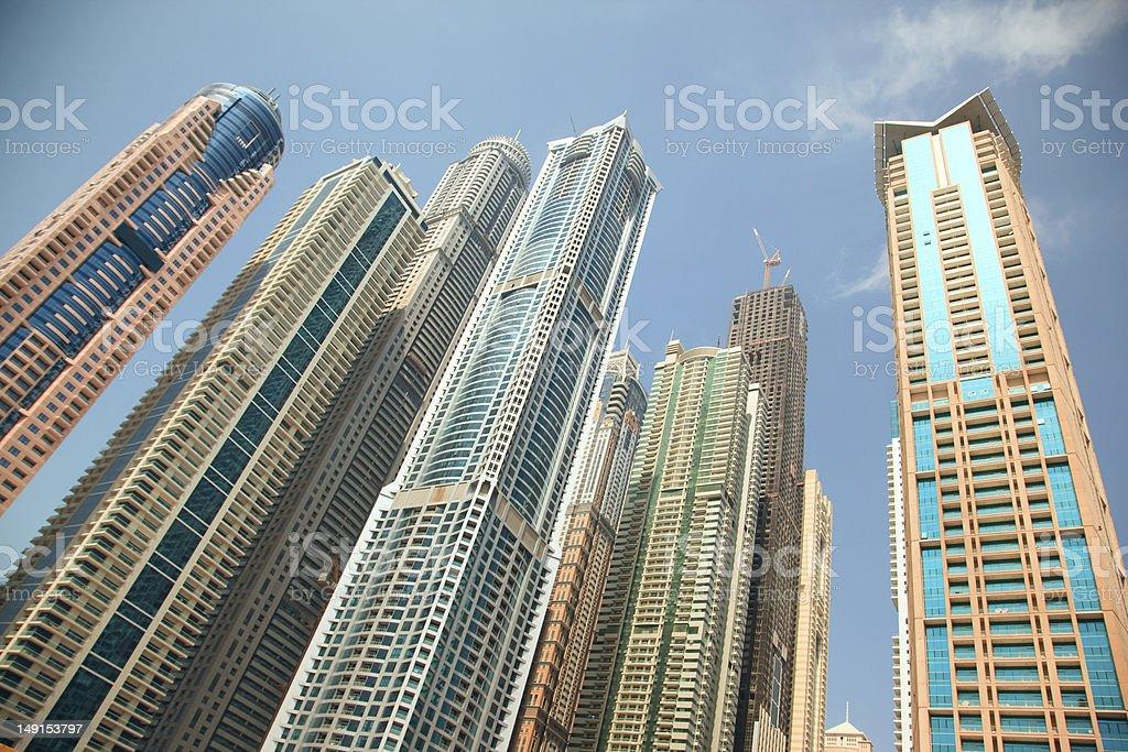 Dubai Marina skyscrapers royalty-free stock photo