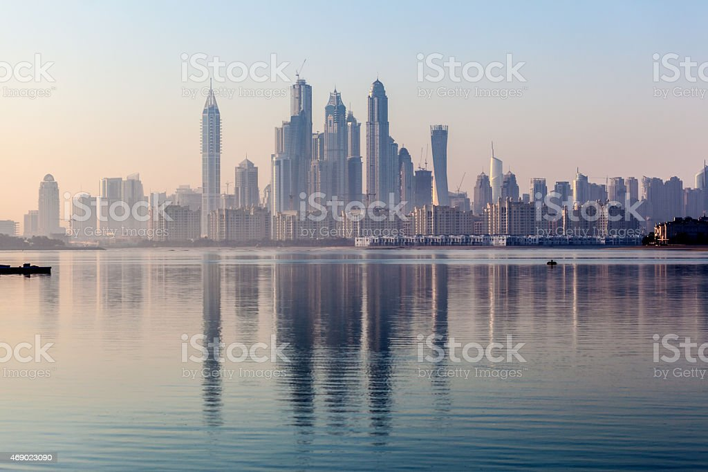 Dubai Marina Skyscrapers stock photo