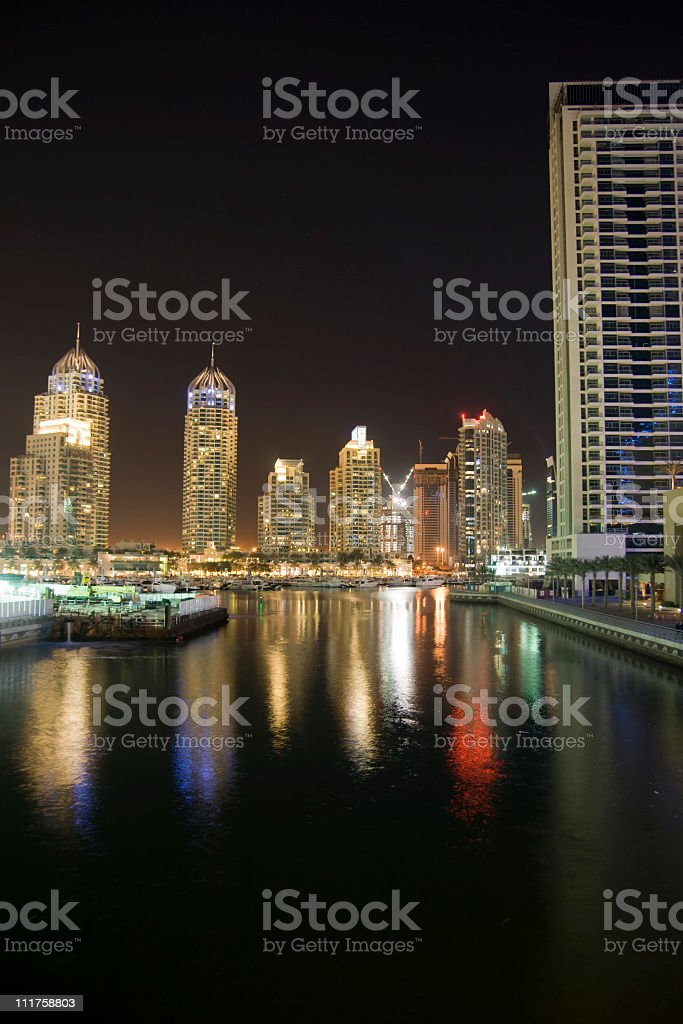 Dubai marina towers royalty-free stock photo