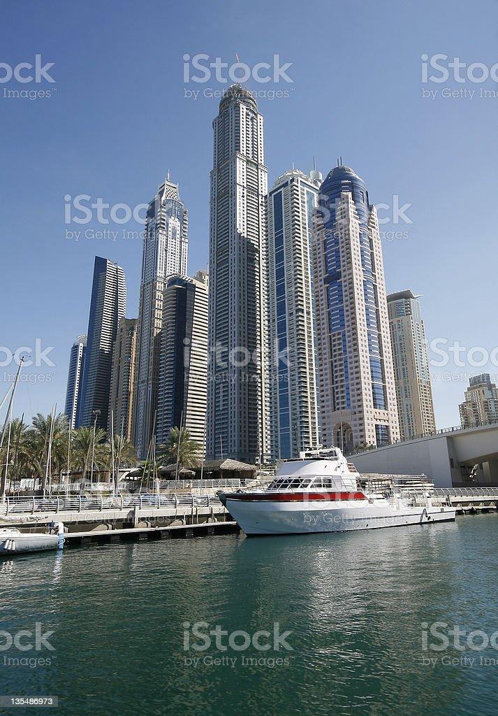 Dubai Marina Towers royalty-free stock photo