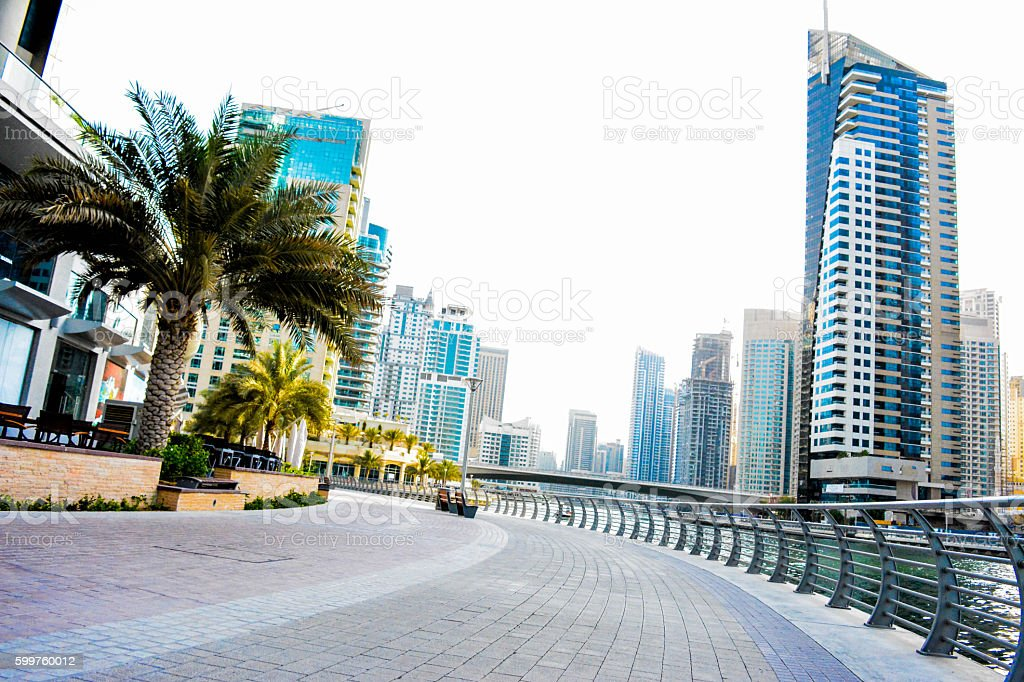 Dubai Marina, United Arabe stock photo