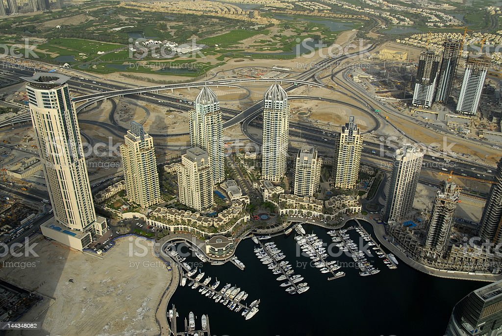 Dubai Marina & Waterfront Developments royalty-free stock photo