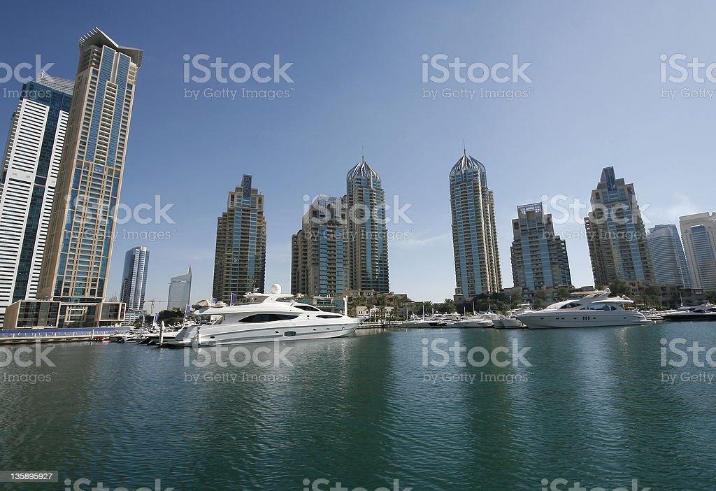Dubai Marina Wide Angle royalty-free stock photo