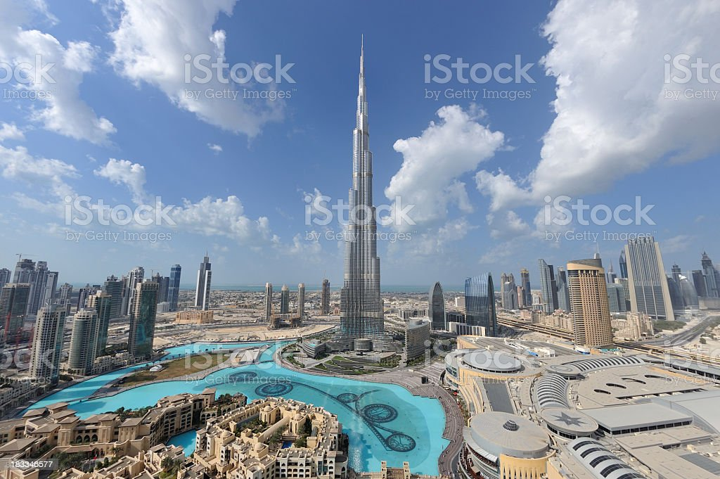 dubai mega city stock photo