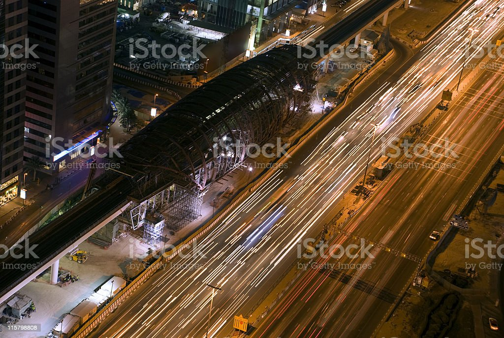Dubai Metro royalty-free stock photo