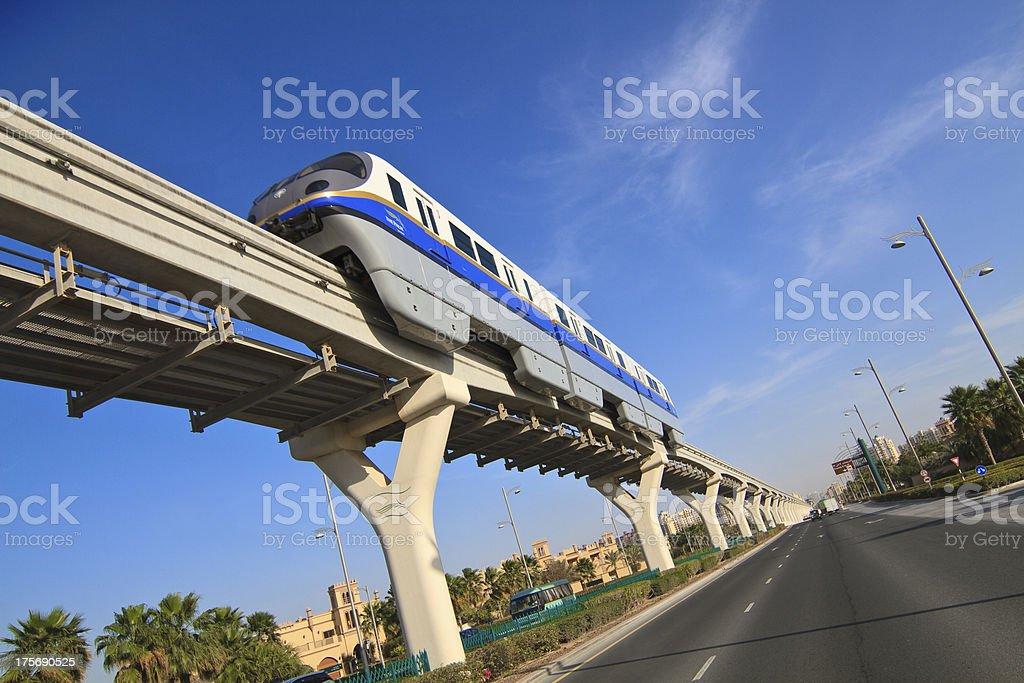 Dubai Metro train stock photo