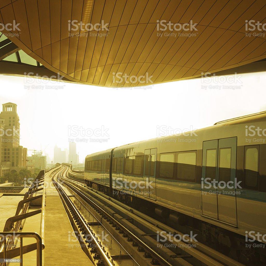 Dubai Metro Train royalty-free stock photo