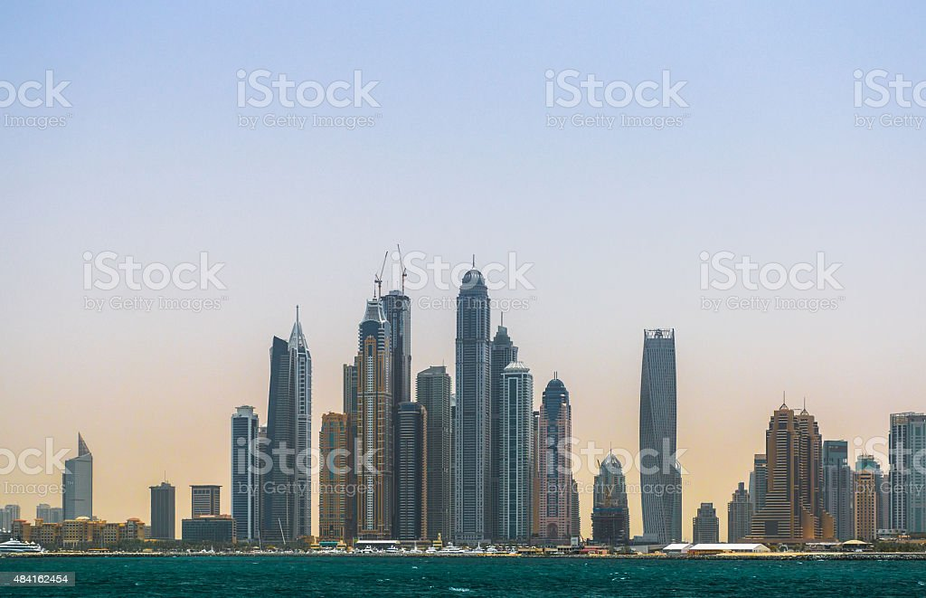 Dubai Morning Panorama stock photo