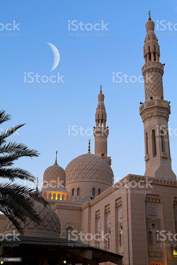 Dubai Mosque At Sunset stock photo