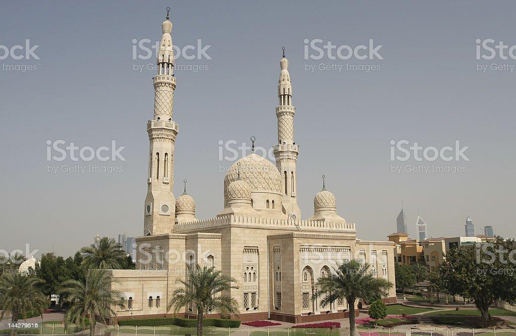 Dubai Mosque royalty-free stock photo