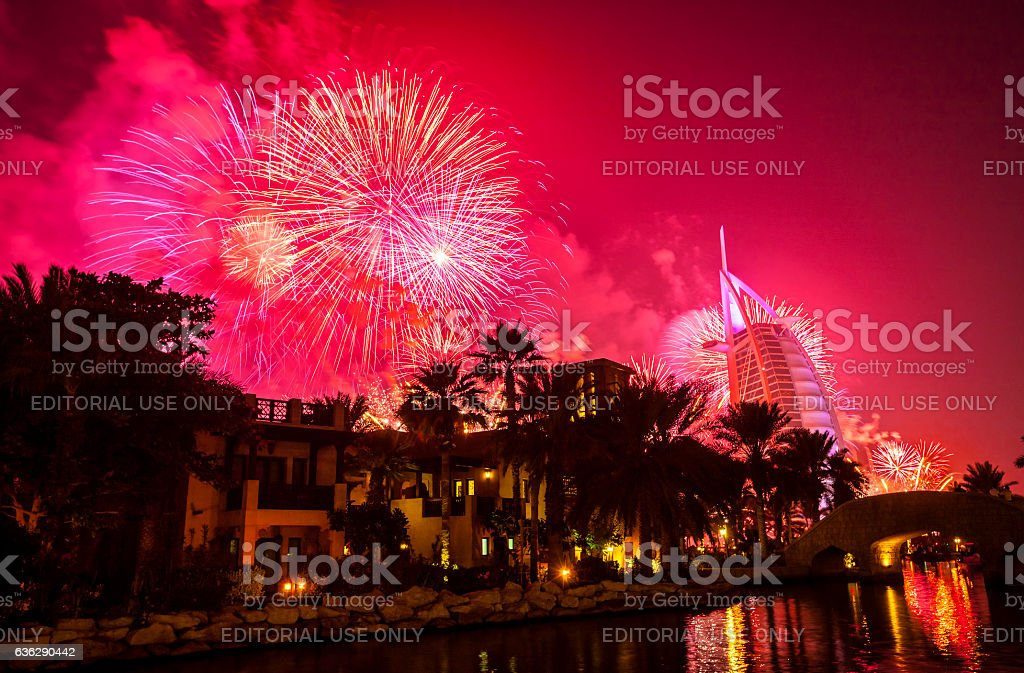 Dubai New Year stock photo