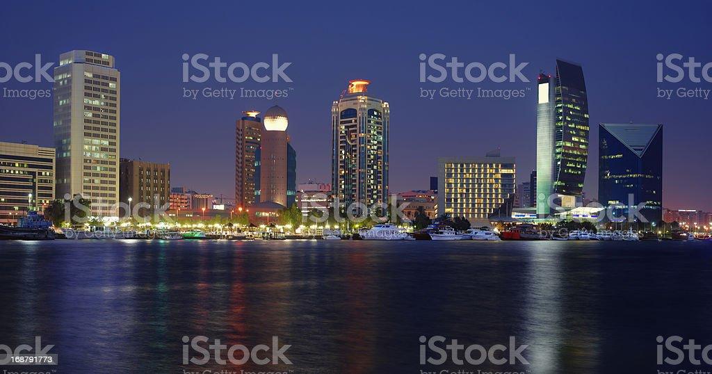 Dubai night scene royalty-free stock photo