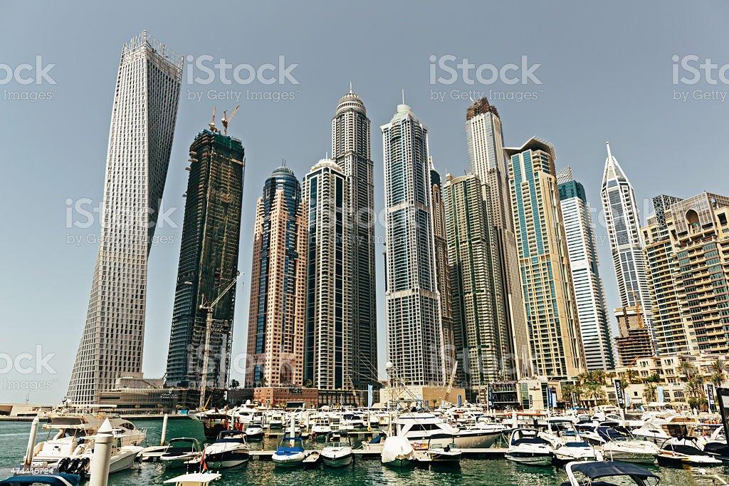 Dubai panorama stock photo