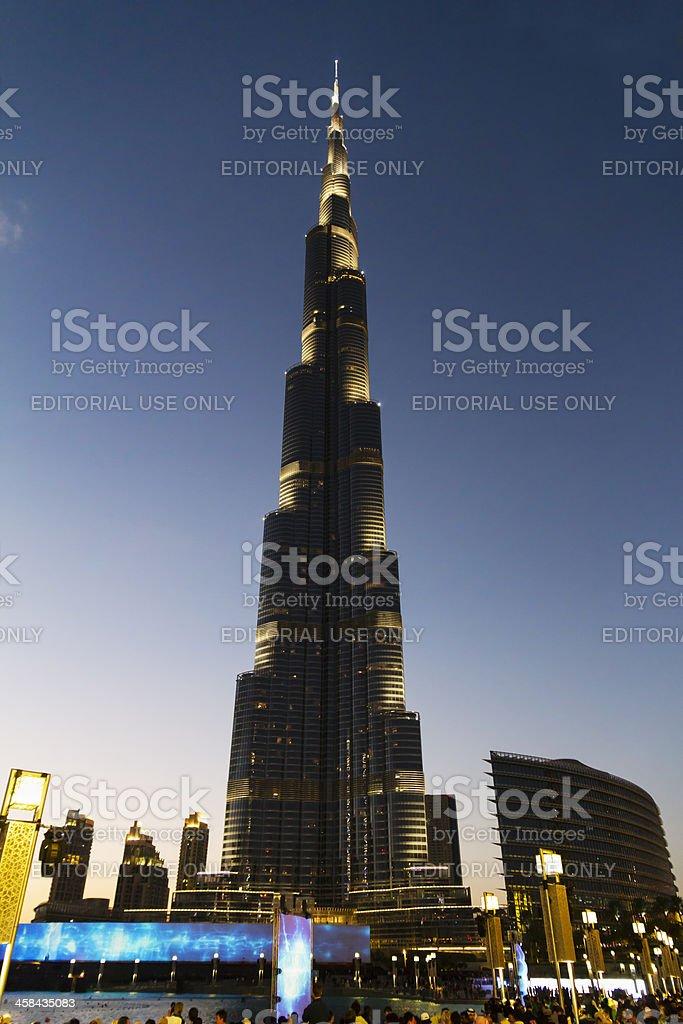 Dubai - panoramic view of Burj Khalifa royalty-free stock photo