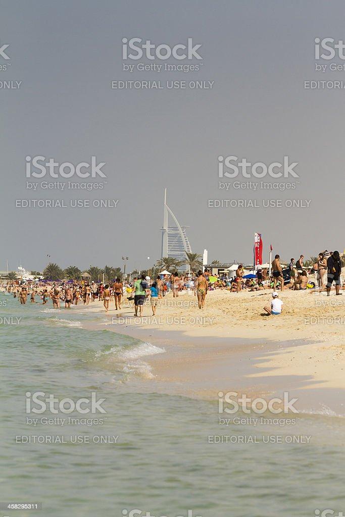 Dubai - People on Jumeirah Beach royalty-free stock photo