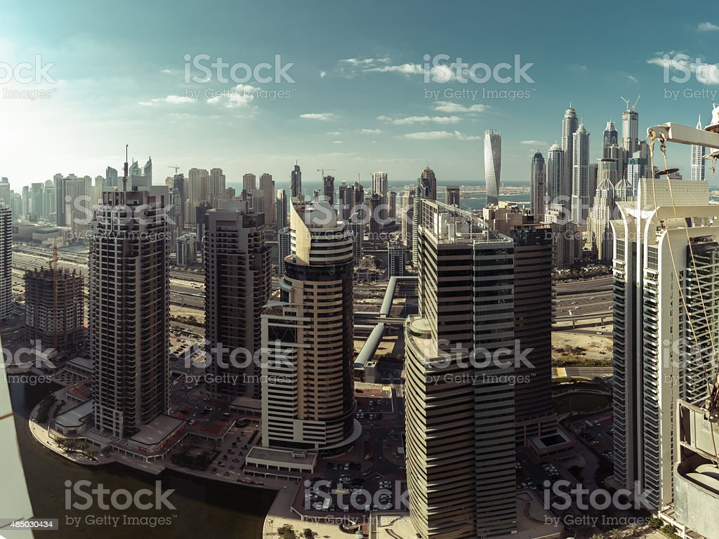 Dubai Residential Buildings stock photo